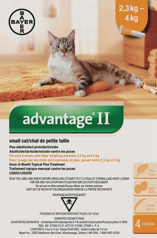 ADVANTAGE II FOR CATS 2.3KG - 4KG