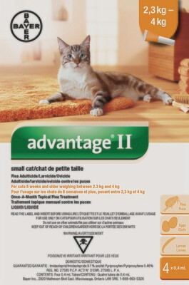 ADVANTAGE II FOR CATS 2.3KG - 4KG