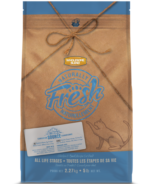 WHOLESOME BLEND NATURALLY FRESH CAT - CHICKEN & DUCK 2.27KG