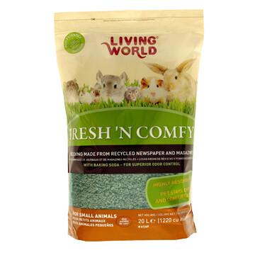 LIVING WORLD FRESH 'N COMFY BEDDING 20L GREEN