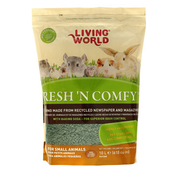 LIVING WORLD FRESH 'N COMFY BEDDING 10L GREEN