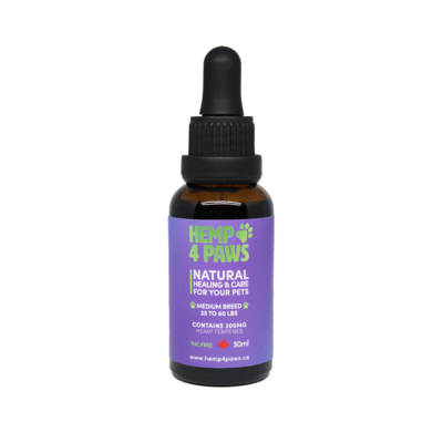 HEMP 4 PAWS HEMP OIL FOR MEDIUM BREEDS 30ml