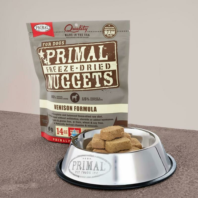 PRIMAL FREEZE-DRIED NUGGETS - VENISON 5.5OZ