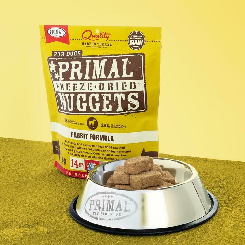 PRIMAL FREEZE-DRIED NUGGETS - RABBIT 14OZ