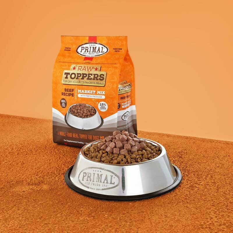 PRIMAL MARKET MIX TOPPER - BEEF 5LB