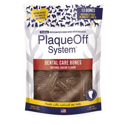PlaqueOff Dental Bones Bacon 17oz