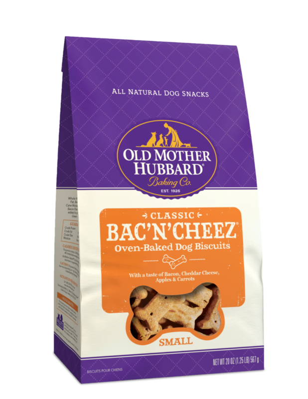 OLD MOTHER HUBBARD BAC'N'CHEEZ SMALL BISCUITS 20OZ
