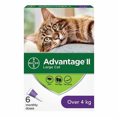 ADVANTAGE II FOR CATS OVER 4KG 6 DOSE