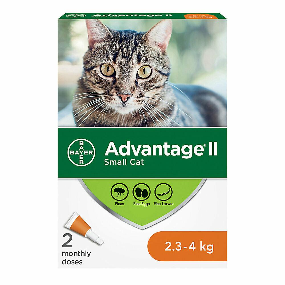 ADVANTAGE II FOR CATS 2.3KG - 4KG 2 DOSE