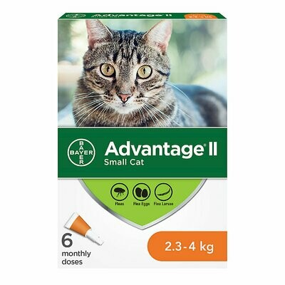 ADVANTAGE II FOR CATS 2.3KG - 4KG 6 DOSE