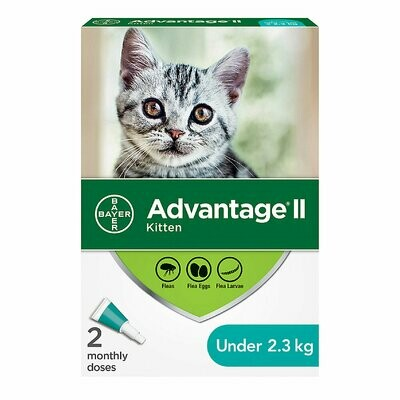 ADVANTAGE II FOR CATS & KITTENS UNDER 2.3KG 2 DOSE