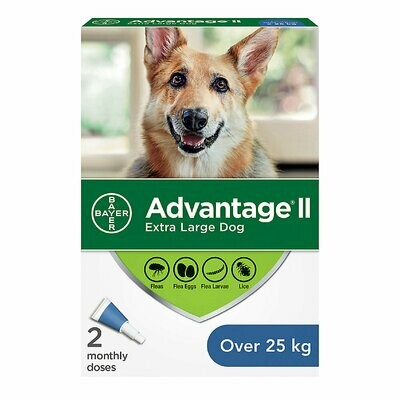 ADVANTAGE II FOR DOGS OVER 25KG 2 DOSE