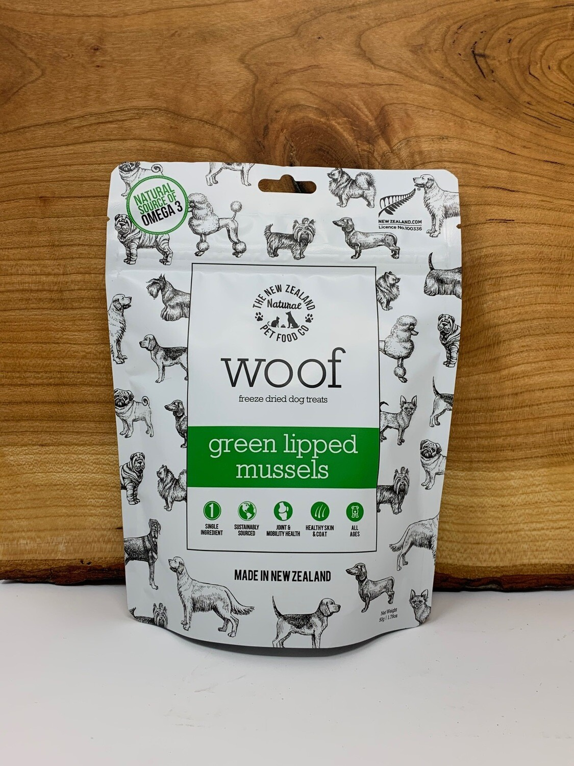 The New Zealand Pet Food Co - Woof Treats Green Lipped Mussels 50g
