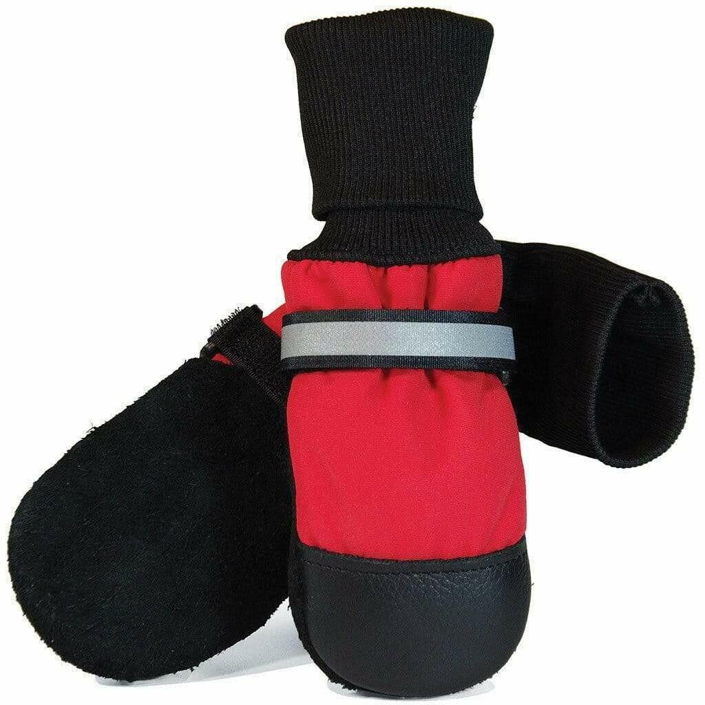 MUTTLUKS - ORIGINAL FLEECE LINED DOG BOOTS - XS RED