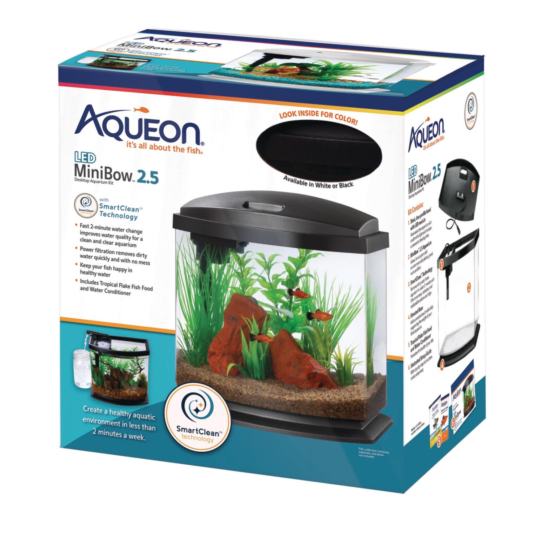 Aqueon LED MiniBow 2.5 - Black - 2.5 gal