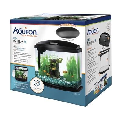 Aqueon LED MiniBow 5 - Grey - 5 gal