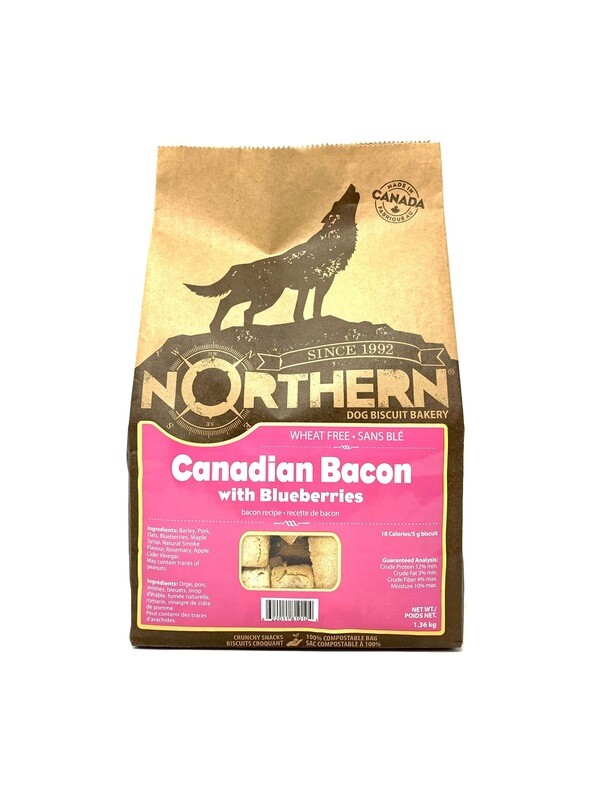 NORTHERN DOG BISCUIT - CANADIAN BACON 1.36KG