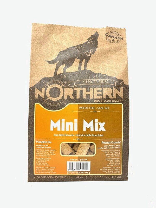 NORTHERN DOG BISCUIT - MINI MIX PUMPKIN PIE & PEANUT CRUNCH 450g