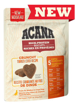 ACANA BISCUITS - TURKEY LIVER MEDIUM/LARGE 225g
