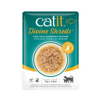 Catit Divine Shreds Pouch - Tuna with Seabream & Wakame 2.6oz