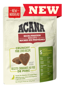 ACANA BISCUITS - PORK LIVER MEDIUM/LARGE 225g