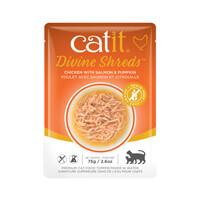 Catit Divine Shreds Pouch - Chicken with Salmon & Pumpkin 2.6oz