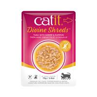 Catit Divine Shreds Pouch - Tuna with Shrimp & Pumpkin 2.6oz