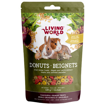 LIVING WORLD SMALL ANIMAL DONUTS - 120g