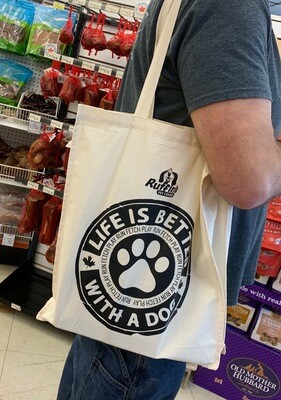 Ruffin's Reusable Tote Bag - Life Is Better With A Dog