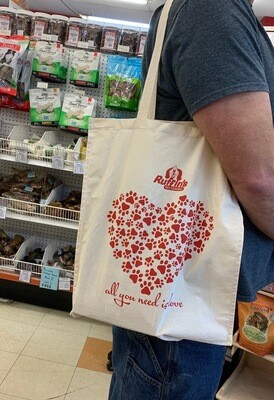 Ruffin's Reusable Tote Bag - All You Need Is Love