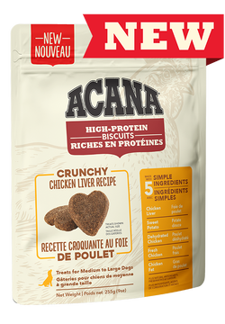 ACANA BISCUITS - CHICKEN LIVER MEDIUM/LARGE 225g
