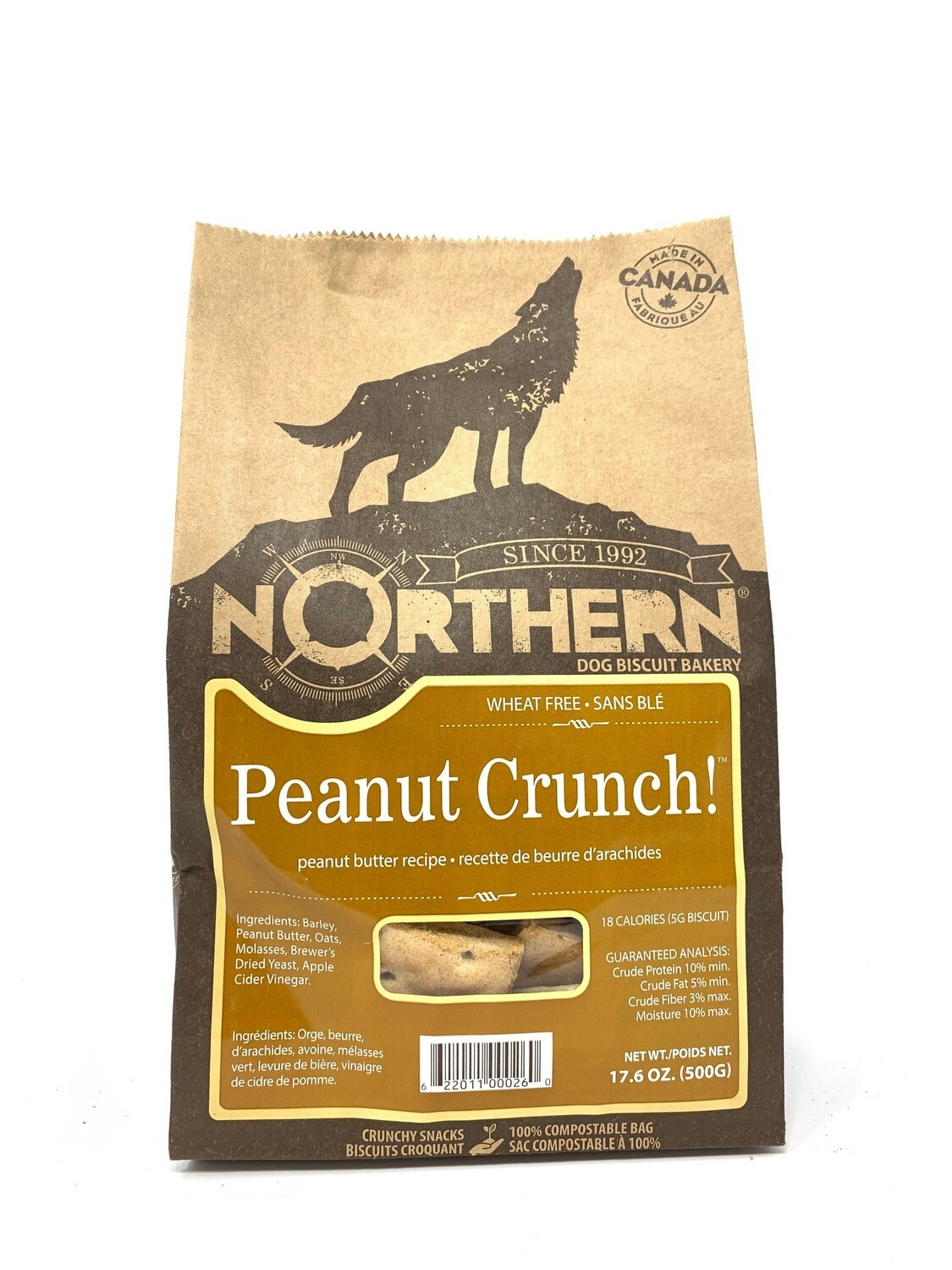 NORTHERN DOG BISCUIT - PEANUT CRUNCH 500g