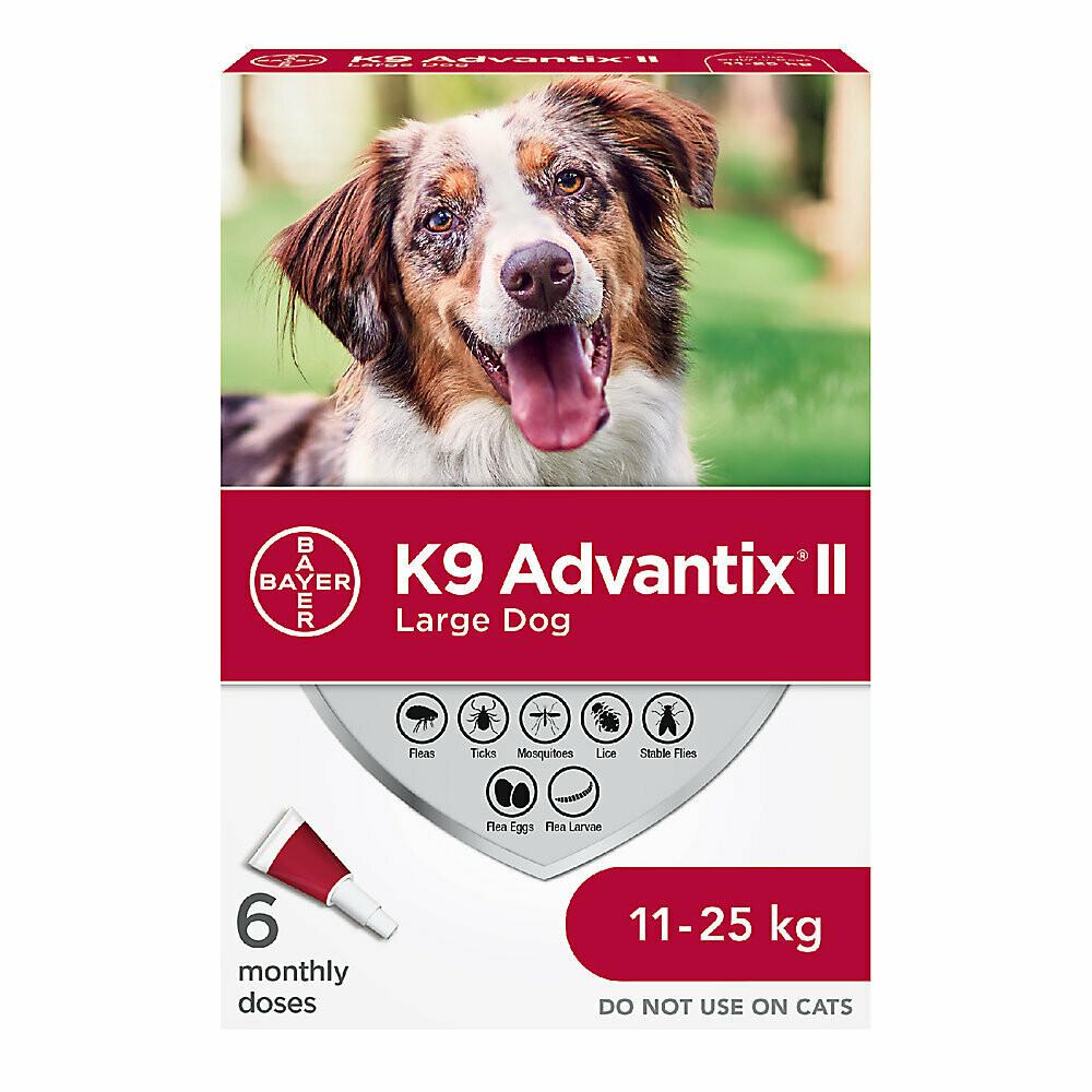 K9 ADVANTIX II FOR DOGS 11KG - 25KG - 6 DOSE