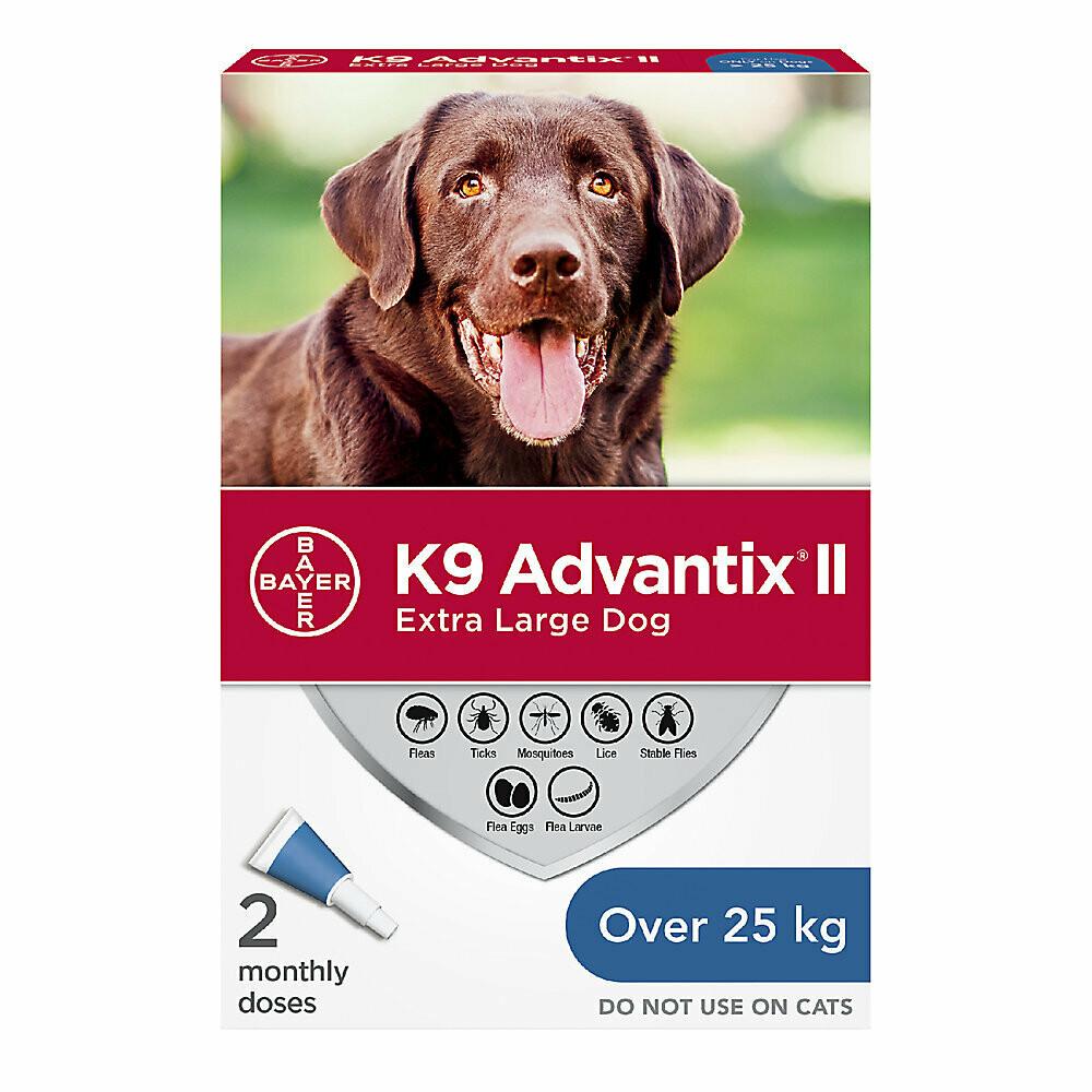 K9 ADVANTIX II FOR DOGS OVER 25KG - 2 DOSE