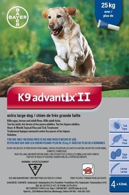 K9 ADVANTIX II FOR DOGS OVER 25KG - 4 DOSE