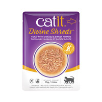 Catit Divine Shreds Pouch - Tuna with Shirasu & Sweet Potato 2.6oz