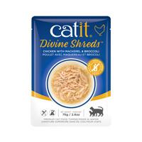 Catit Divine Shreds Pouch - Chicken with Mackerel & Broccoli 2.6oz