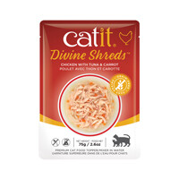 Catit Divine Shreds Pouch - Chicken with Tuna & Carrot 2.6oz