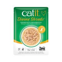Catit Divine Shreds Pouch - Chicken with Liver & Broccoli 2.6oz