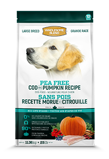 Wholesome Blend Pea Free Large Breed Cod & Pumpkin 11.4kg