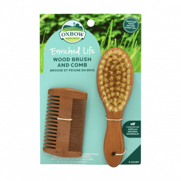 OXBOW ENRICHED LIFE - WOOD BRUSH AND COMB