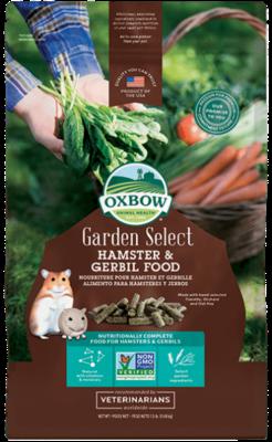 OXBOW GARDEN SELECT HAMSTER & GERBIL FOOD 1.5lb