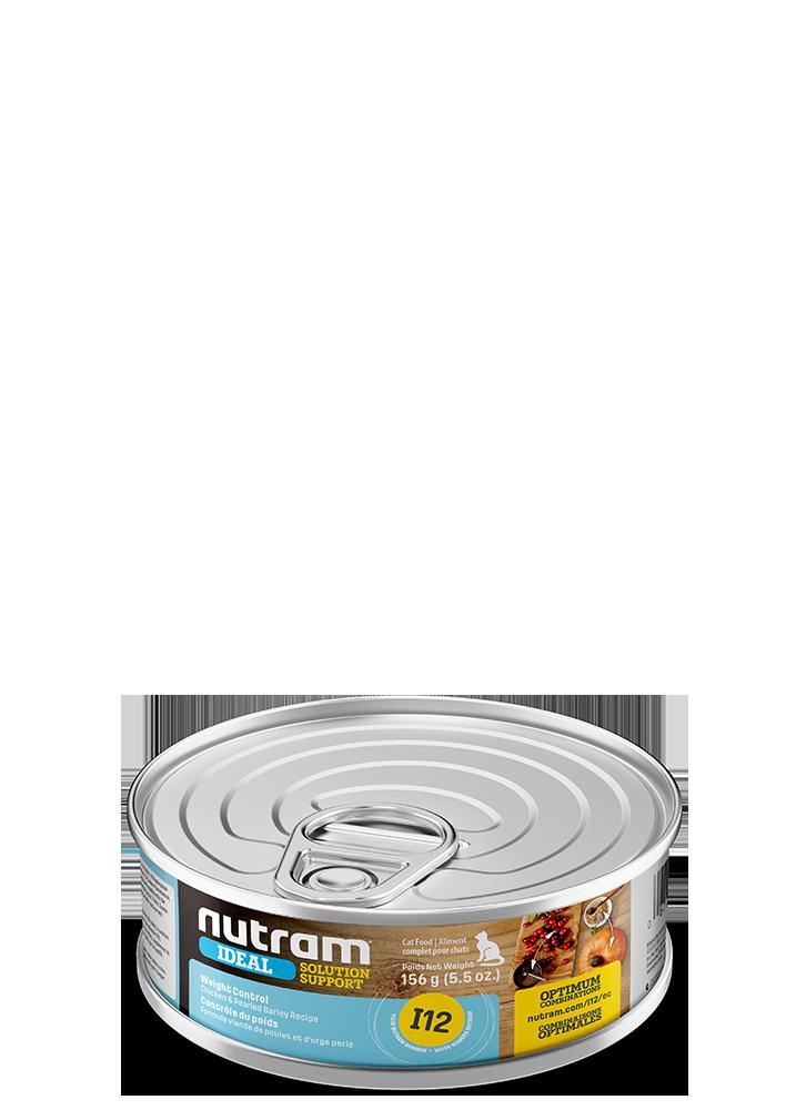 NUTRAM CAT CAN I12 WEIGHT CONTROL CHICKEN & BARLEY 5.5OZ
