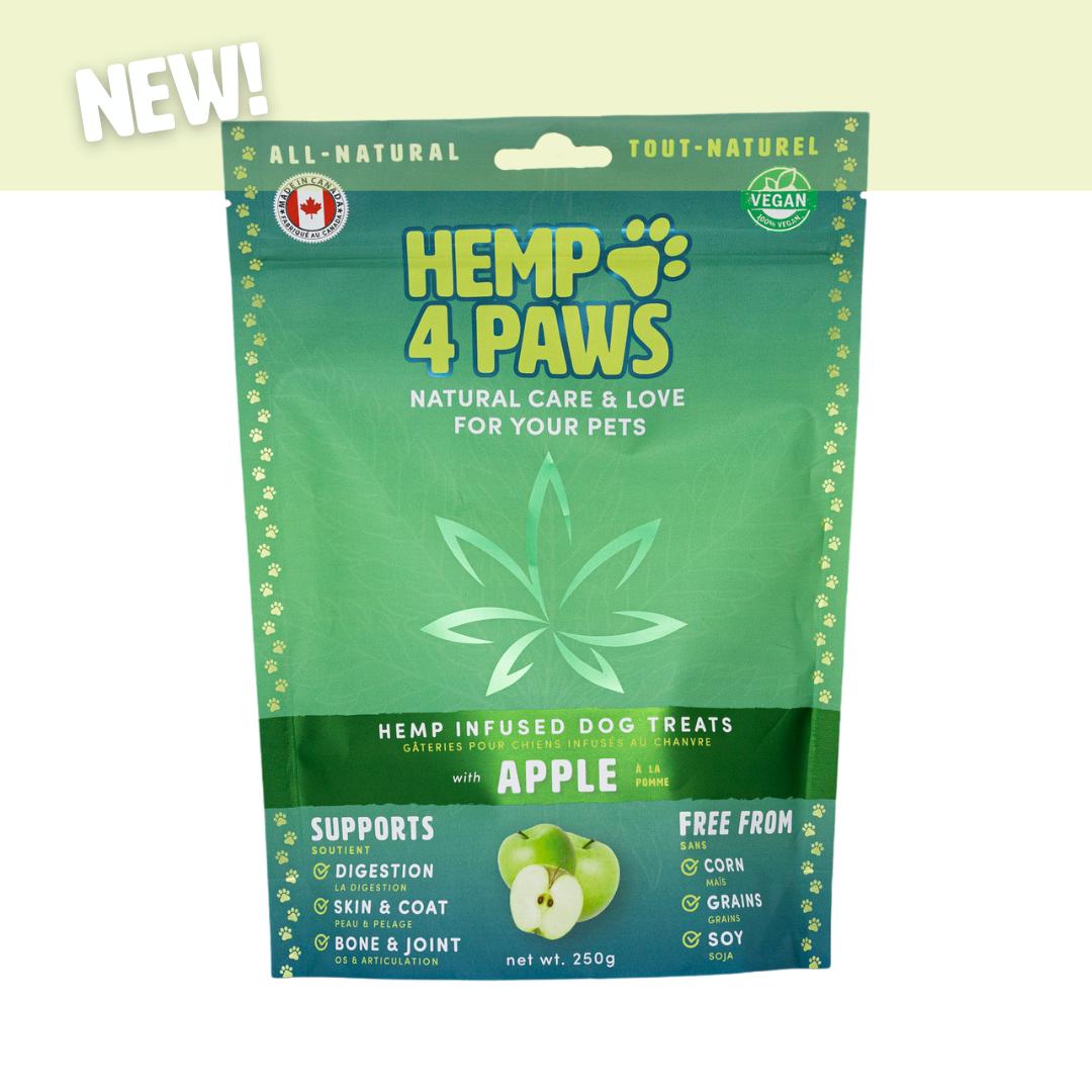 HEMP 4 PAWS HEMP DOG TREATS WITH APPLE 250g