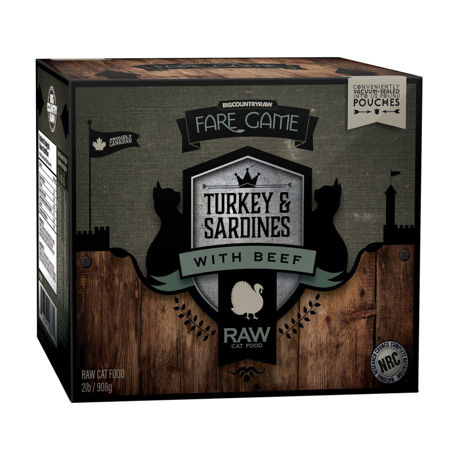BCR FARE GAME TURKEY & SARDINES WITH BEEF 2LB