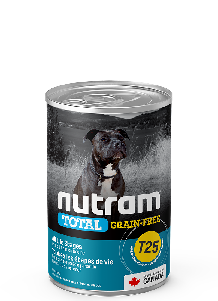 NUTRAM T25 TROUT & SALMON DOG CAN 13oz
