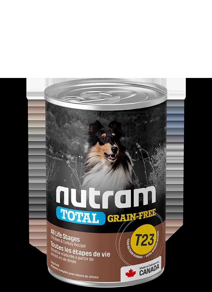 NUTRAM T23 CHICKEN & TURKEY DOG CAN 13oz
