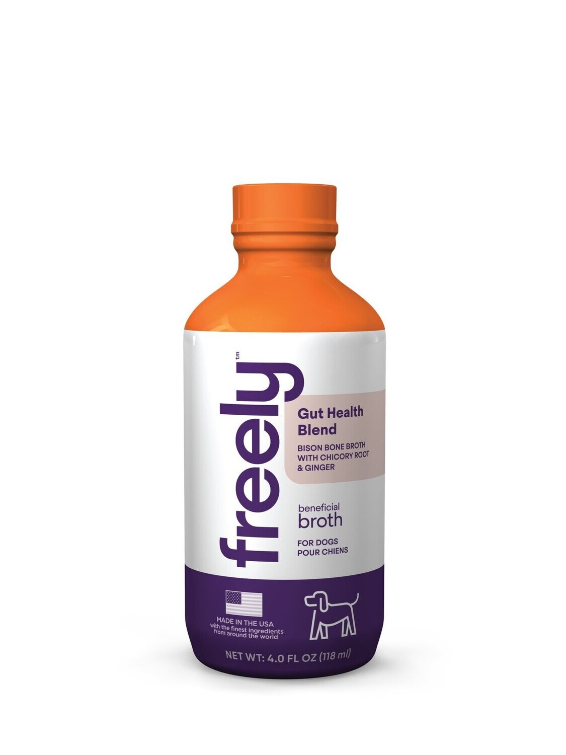 FREELY BENEFICIAL BROTH GUT HEALTH BISON 4oz