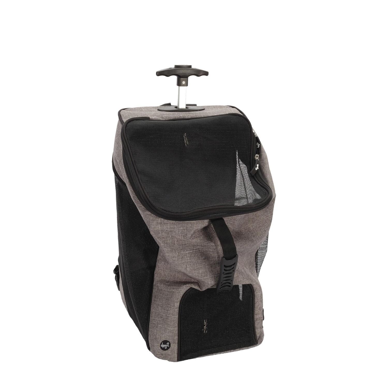 Dogit Explorer Carrier Wheeled Backpack Black & Grey