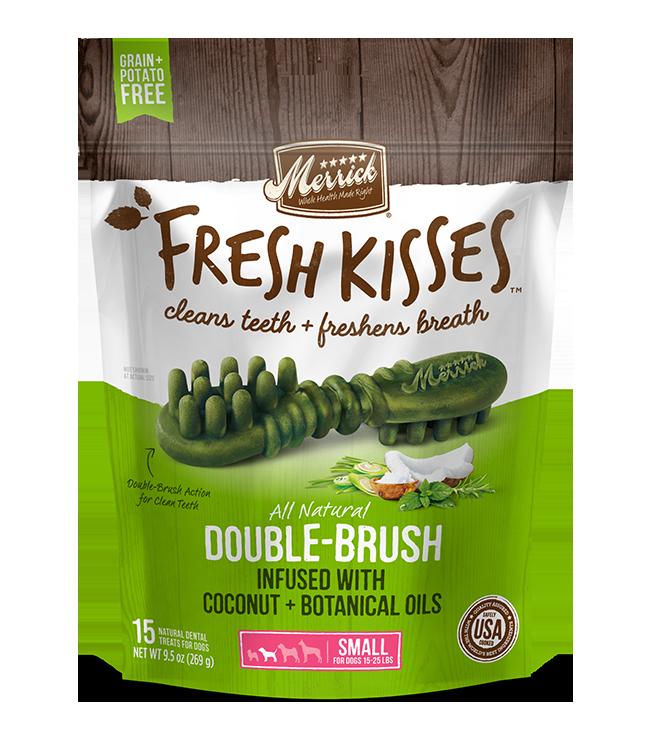 MERRICK FRESH KISSES DENTAL TREATS SMALL 15 COUNT
